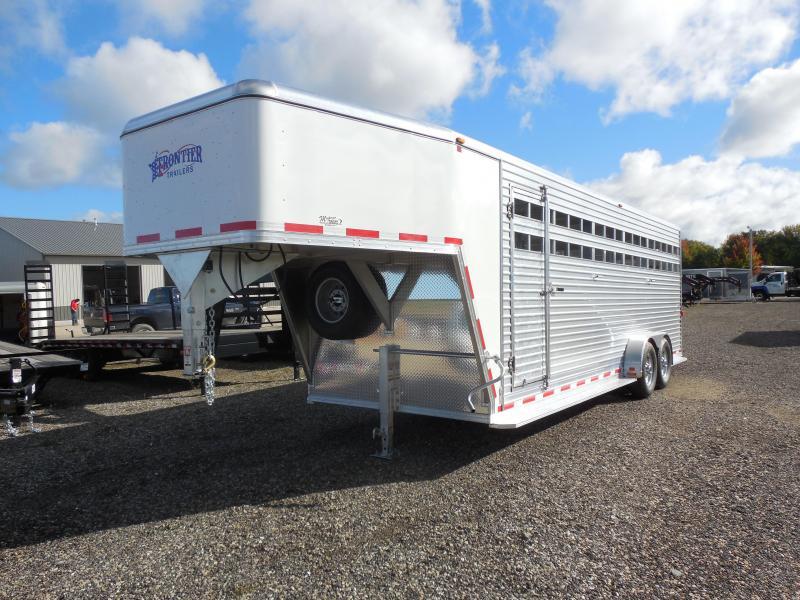 2016 Frontier 24' Gooseneck  Livestock Trailer