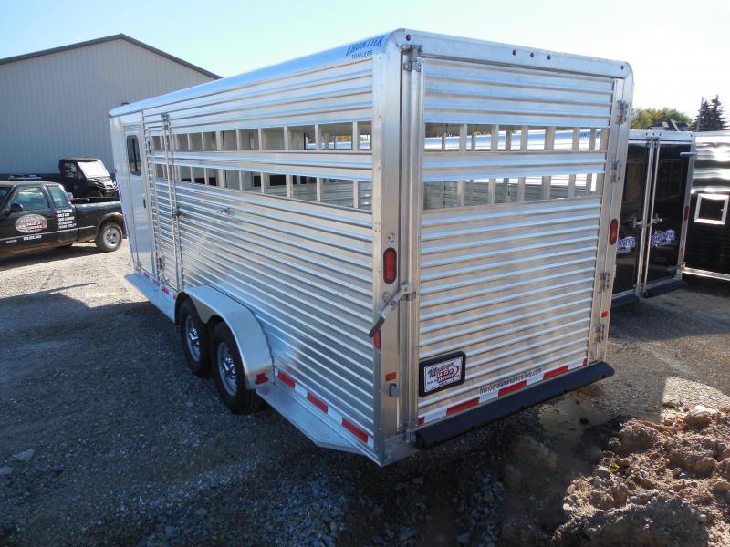 2016 Frontier 20ft Combo Gooseneck Livestock Trailer