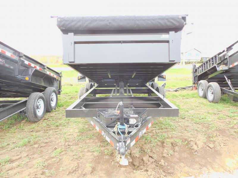 "2018 PJ Trailers 16' x 83"" D9 Dump Trailer With Primer"