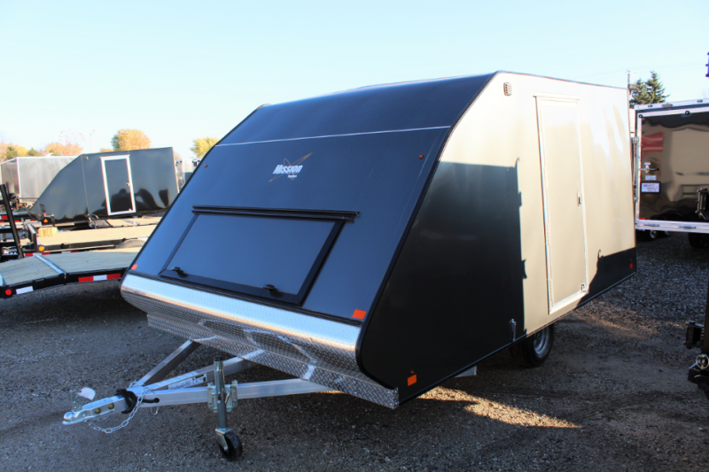 2017 Mission 101x12 Snowmobile Trailer *LIGHT HAIL DAMAGE ON FRONT OF TRAILER