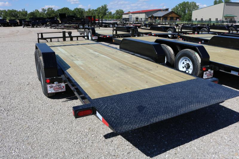 2018 PJ Trailers 20' Channel Equipment Tilt Trailer