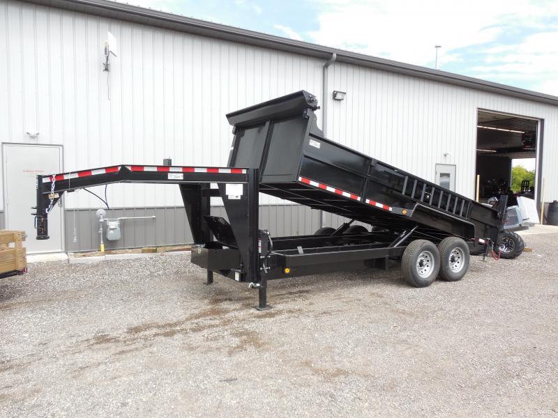 2018 Quality Steel and Aluminum 83x16 Gooseneck Dump Trailer