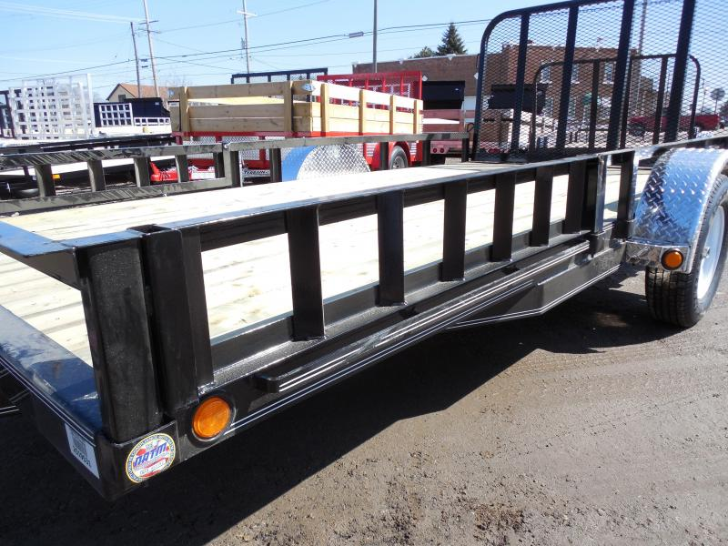 2018 PJ Trailers 83x14 with Side ATV Ramps Utility Trailer
