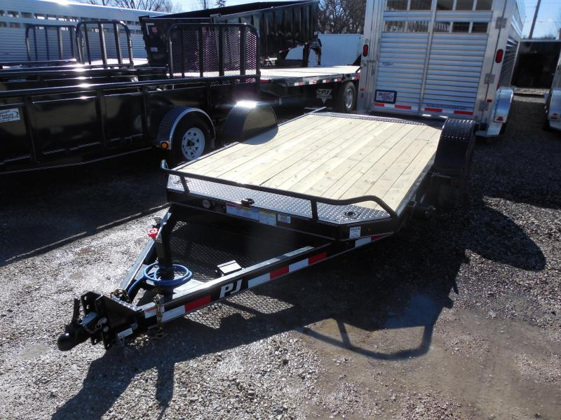 2016 PJ Trailers 13' Single Axle HD Tilt Trailer