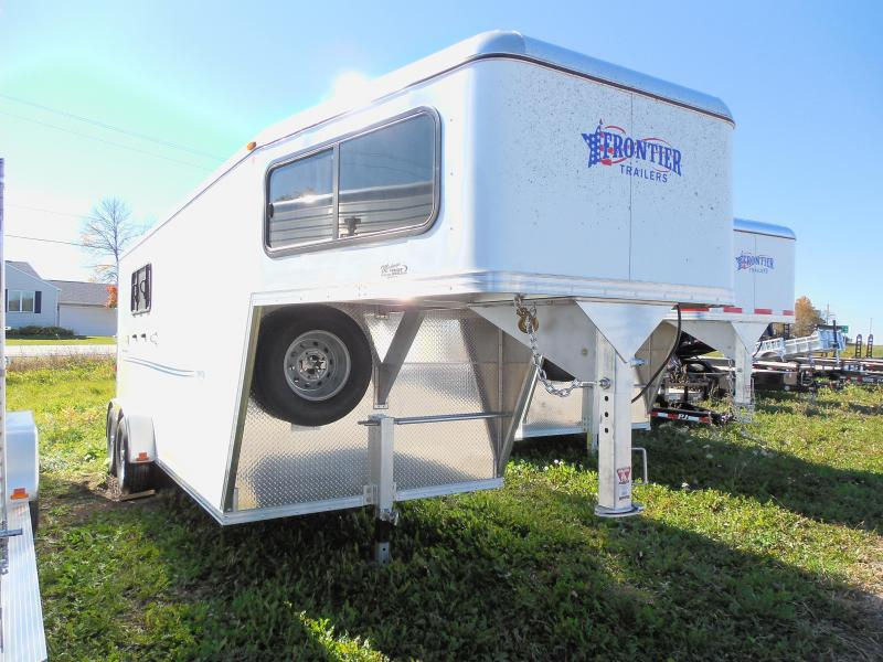 2016 Frontier Strider 3 Horse Gooseneck Slant Load Trailer