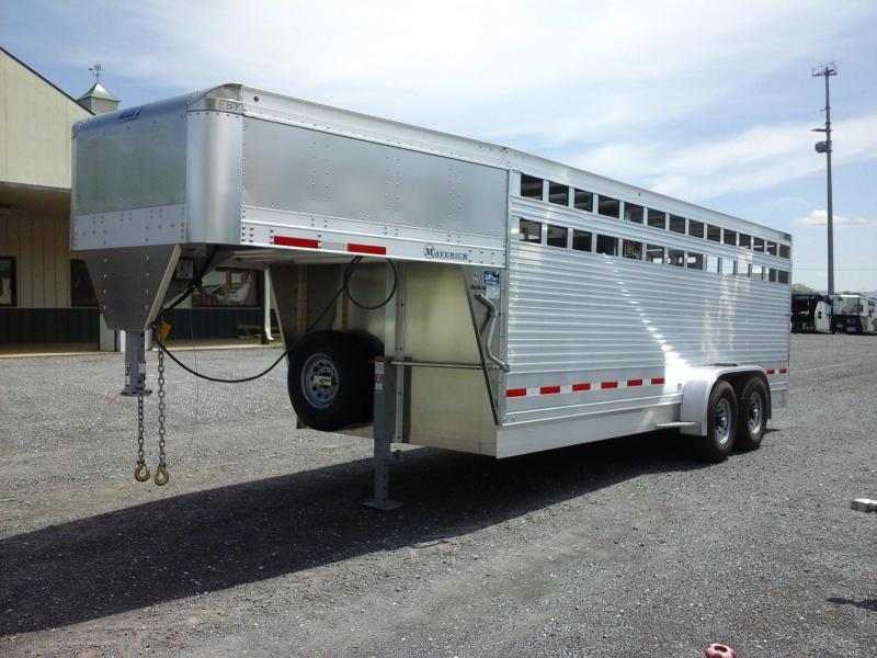 2018 Eby Trailers 20Maverick GN Stock Livestock Trailer