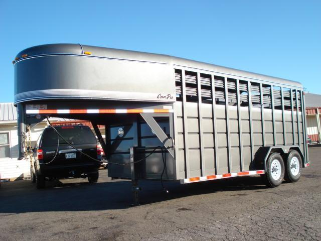 Clearance 2013 CornPro Trailers GN 16ft Stock / Stock Combo Trailer