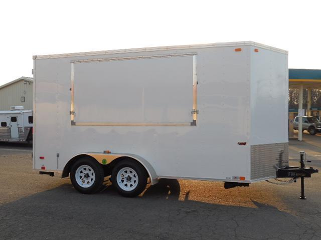 2014 United Trailers BP 7 x 14 w/Awning Door Cargo / Enclosed Trailer
