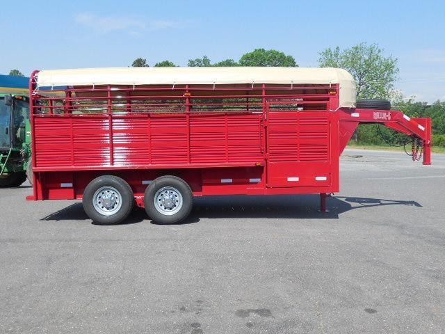 2016 Rollin-S GN 7ft x 16ft Pipe Top Livestock Trailer