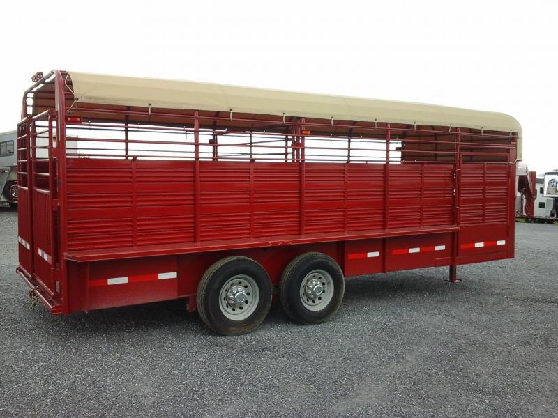 2016 Rollin-S 7x20 Pipe Livestock Trailer