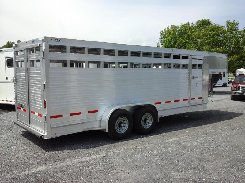 2018 Eby Trailers 20Maverick GN Stock Livestock Trailer