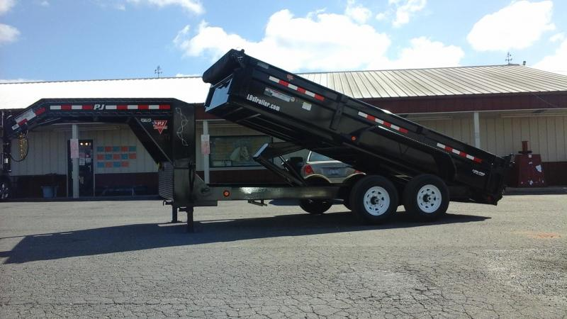 2018 PJ Trailers 16 x 83 Low Pro XL Dump Trailer