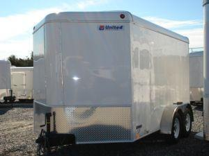 2007 United Trailers BP 7 x 12 Wedge Cargo / Enclosed Trailer