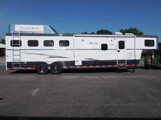 2015 Trails West GN 4H LQ w/Slide Horse Trailer