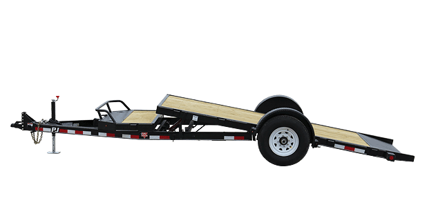 16 Single Axle Trailer : Pj trailers single axle hd tilt trailer