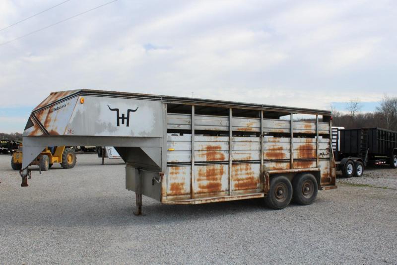 1987 Hillsboro Industries 16 Livestock Trailer Livestock Trailer