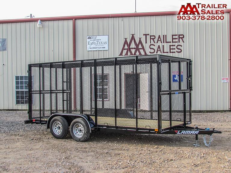 "2018 LAMAR Trash Trailer 77""x16' GVWR 3990"