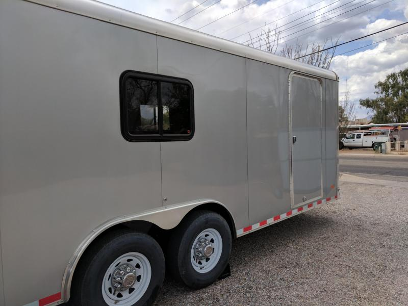 Used 2017 Haulmark 102x20 12k Grizzly Enclosed Cargo Trailer