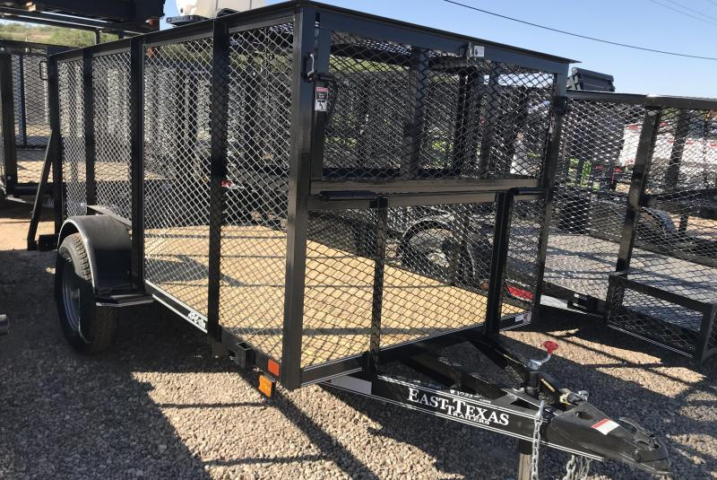 2018 East Texas 5x10 S/A Landscape Utility Trailer