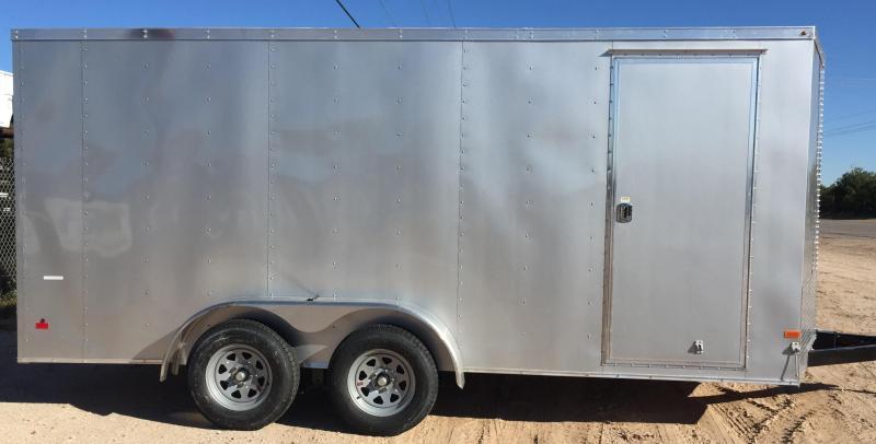 2017 Haulmark 7x14 T/A Thrifty Enclosed Cargo Trailer