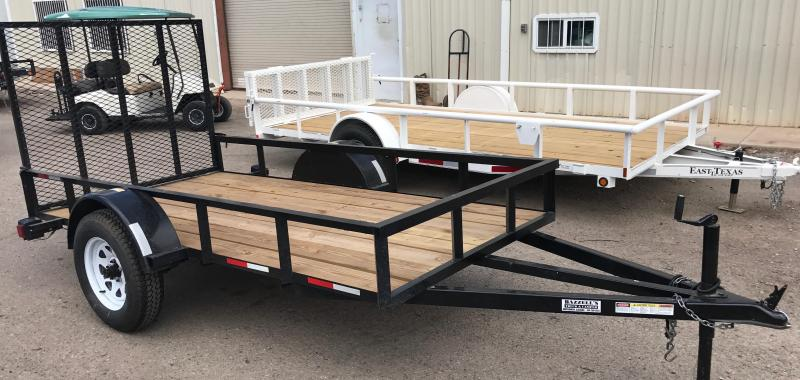2015 Baggets Used 5x10 Utility Trailer