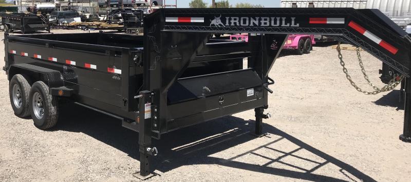 2018 Iron Bull 83x14 Gooseneck 14k Dump Trailer