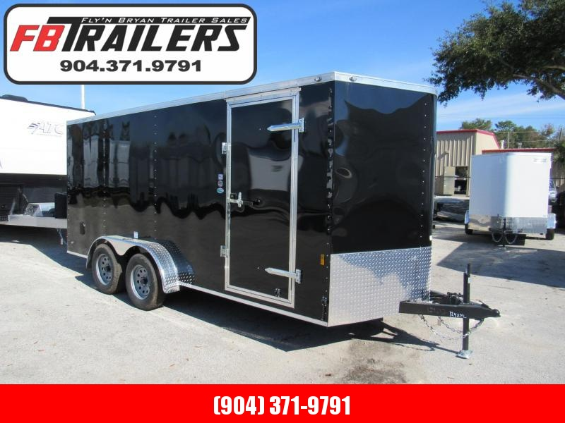 2019 Continental Cargo 7X16 Side Door Ramp Door Enclosed Cargo Trailer