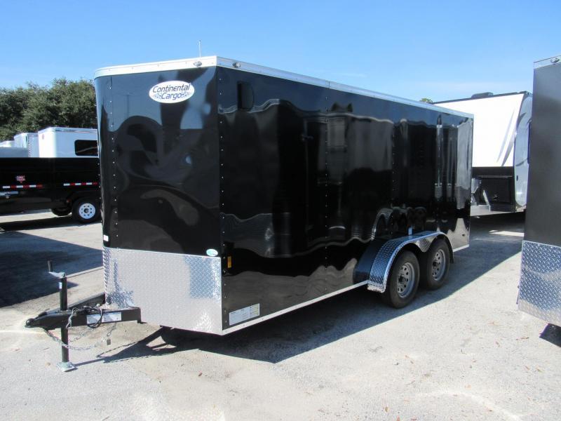 2019 Continental Cargo 7X16 Side Door Ramp Door Enclosed Cargo Trailer