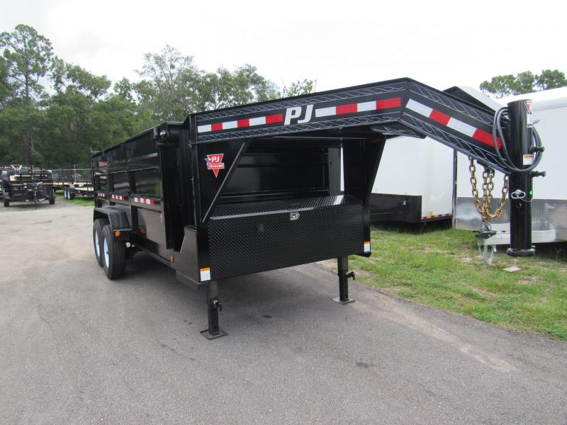 2019 PJ Low Pro 16ft with 4ft High Sides Dump Trailer