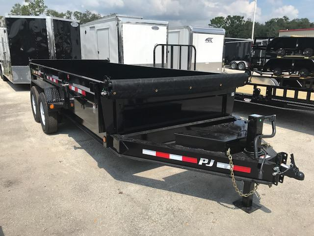 "2018 DJ 16'x 83"" Low Pro XL Dump Trailer by PJ Trailers"