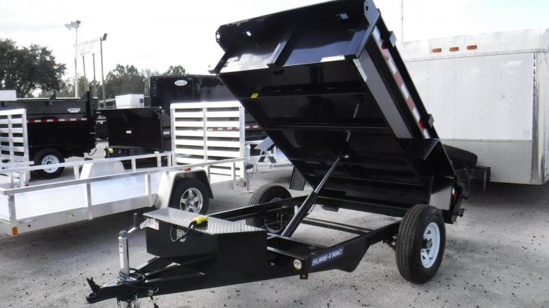 "2018 62""x 8'  Sing;e Axle Dump Trailer by Sure Trac"