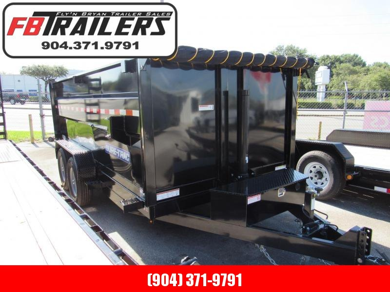 2019 Sure-Trac 7X14 with 4 High Sides Dump Trailer