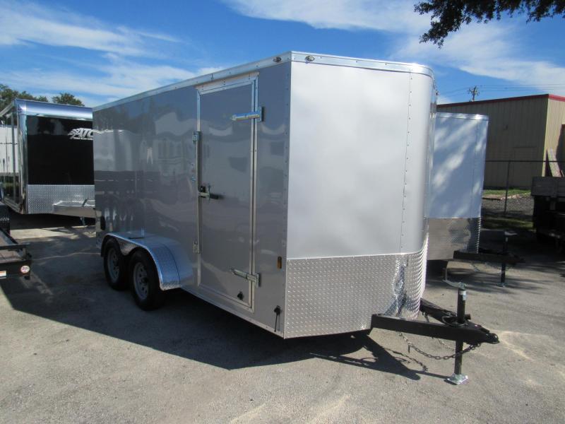 2019 Continental Cargo 7x14 Silver Enclosed Cargo Trailer