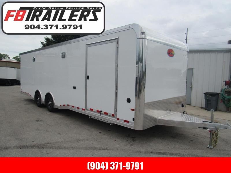2020 28' All Aluminum Race Trailer with Premium Escape Door