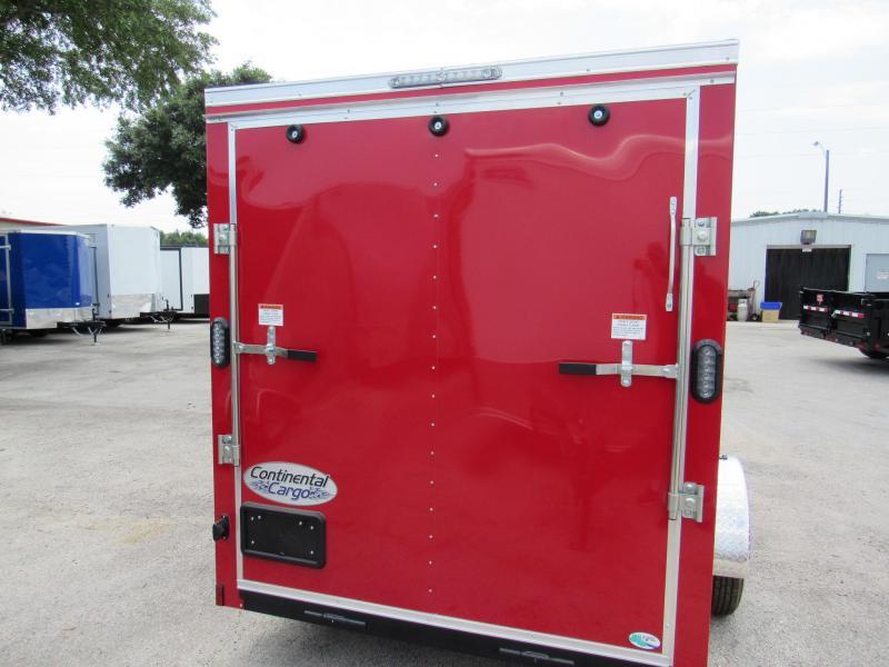 2020 Continental Cargo Red 6x12 Enclosed Cargo Trailer