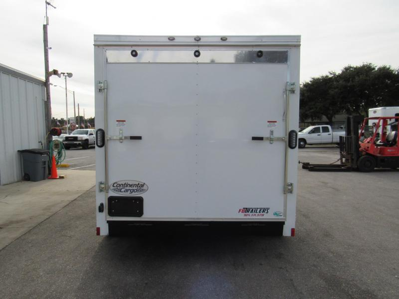 2019 Continental Cargo 7X12 with 5200lb Axles Enclosed Cargo Trailer