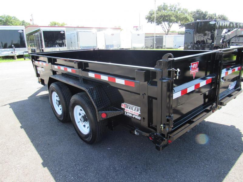 2019 PJ Trailers 7x14 2ft sides Dump Trailer