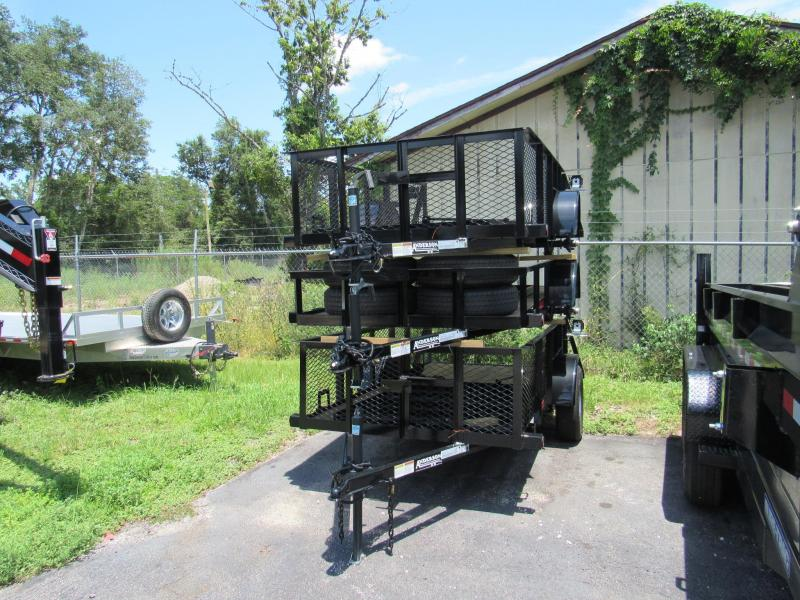 2018 Anderson Manufacturing 5x10 with 2 ft Mesh Sides Utility Trailer