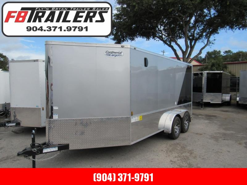 2019 Continental Cargo 7x14 Finished Motorcycle Trailer
