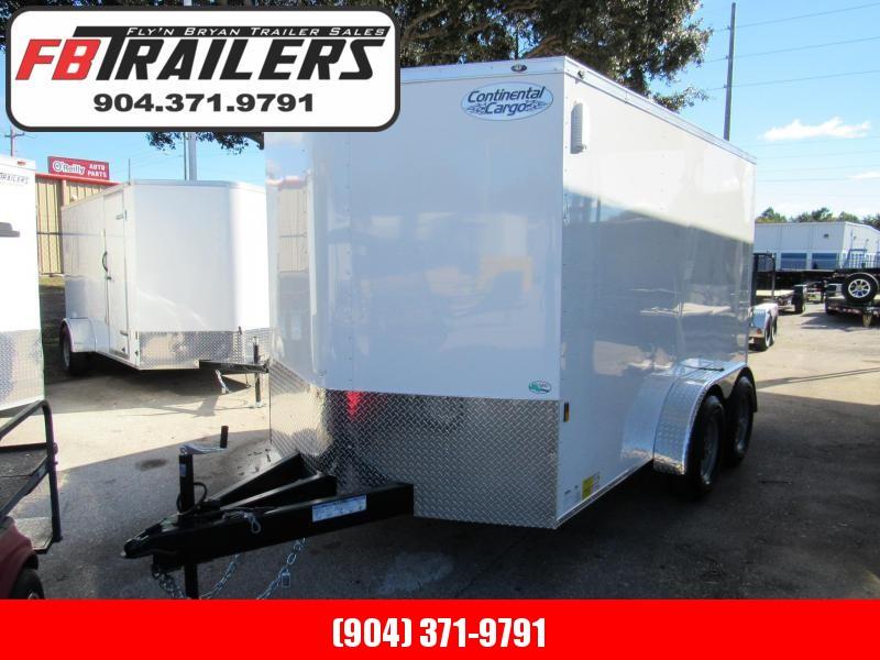 2019 Continental Cargo 7x12 5200 lb Axles Enclosed Cargo Trailer