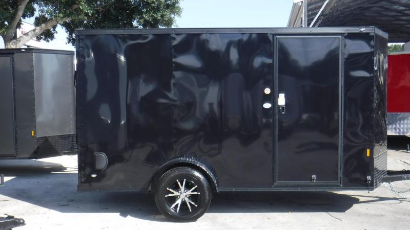 2018 6x12 BLACK OUT Enclosed Cargo Trailer by Continental Cargo