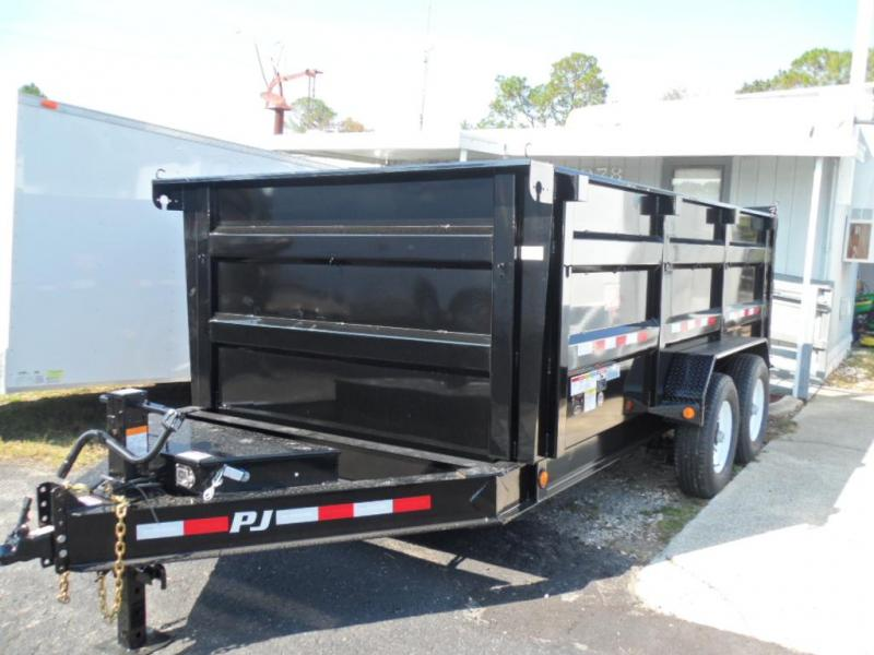 "2018 DM 14'x83"" Low Pro High Side Dump Trailer by PJ Trailers"