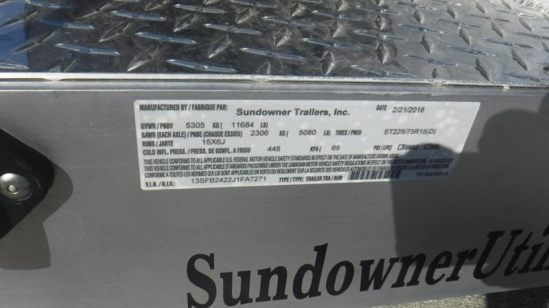 2018 Sundowner Trailers 9624MPBP Equipment Trailer