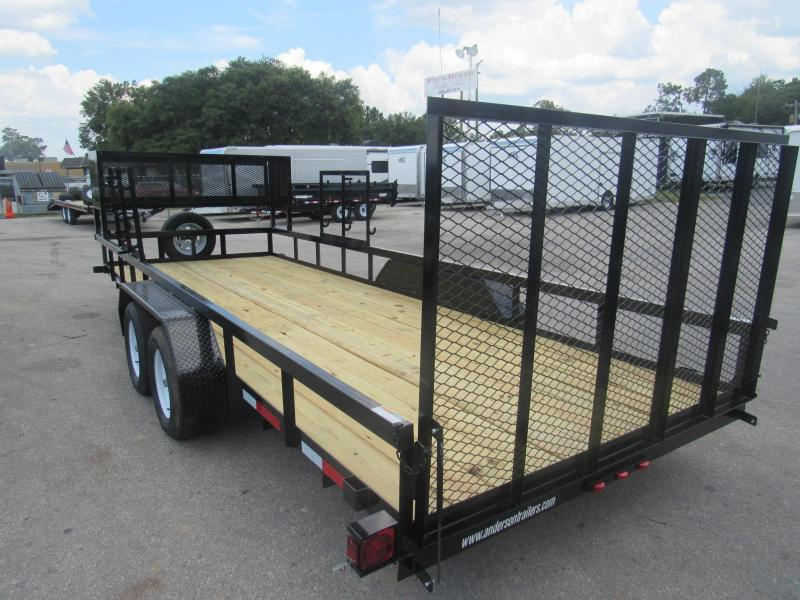 2020 Anderson Manufacturing 7X20 Landscaper Package Utility Trailer