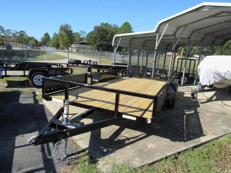 2019 Sure-Trac 7X16 ATV Sides Utility Trailer