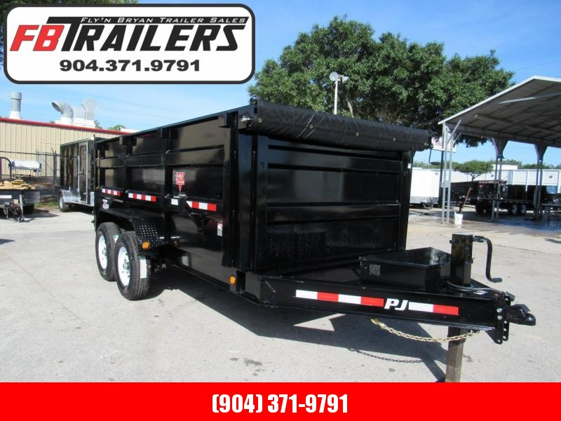 2019 7x14  4ft High Side Dump Trailer by PJ Trailers