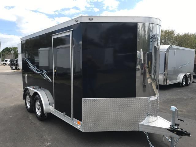 2017 7.5 X12 Aluminum Trailer Company MC300 Motorcycle Trailer