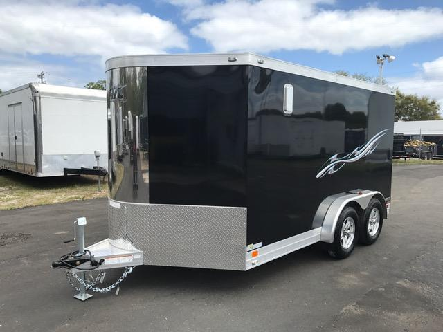 2017 7.5 X12 Aluminum Trailer Company MC300 Motorcycle Trailer