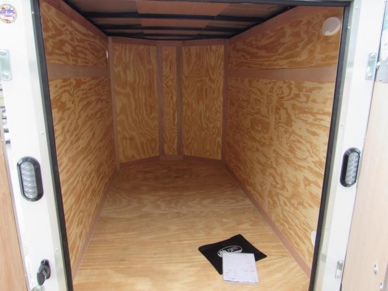 2019 Continental Cargo 5x8 with Double Doors Enclosed Cargo Trailer