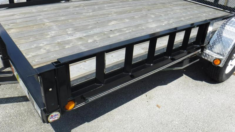 2018 7x12 Open Utility Trailer With SIDE RAMPS